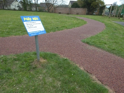 Winkleigh Primary school daily mile running track play project