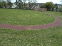 Winkleigh Primary school daily mile running track