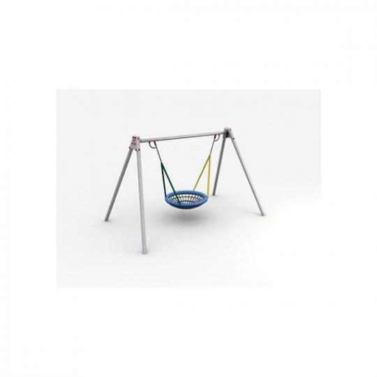 metal swing frame with 1 birds nest swing - Metal Swing Frame