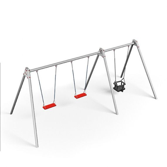 Module Swing Frame with 2 Safety Swings & Baby Swing
